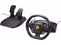 Microsoft Xbox 360 steering wheel and pedals Thrustmaster Ferrari 458 Italia