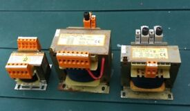 3 x CONTROL VOLTAGE TRANSFORMERS - the lot for £ 25