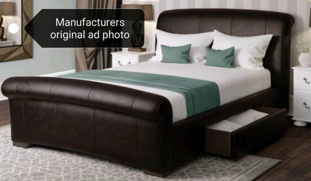 Super King Size Bed Frame With 2 X Storage Drawers In Chester Le