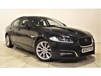 JAGUAR XF 2.2 D R-SPORT 4d AUTO 200 BHP + 1 PREVIOUS OWNER FROM NEW (black) 2013