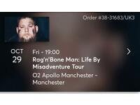 2 Rag N'Bone man tickets Manchester 29 October