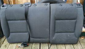 Audi A3 8P rear cloth Upper seat section in Soul black - Genuine 2003 - 2012
