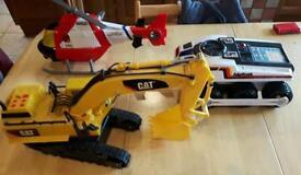 Bigtrak digger helicopter toys