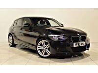 BMW 1 SERIES 2.0 116D M SPORT 5d 114 BHP + AIR CON + AUX + BLUETOOTH (black) 2013