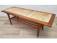 Vintage Tiled Coffee Table (DELIVERY AVAILABLE FOR THIS ITEM OF FURNITURE)