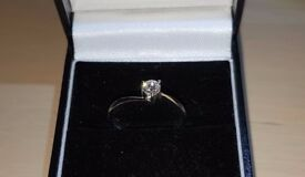 18ct White Gold with 0.25ct Diamond Solitaire Ring. Offers welcome.