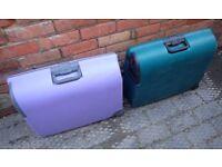 Carlton Hard Plastic Suitcase x 2