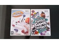 Nintendo Wii Games Party Bundle, Party Game and Hasbro Family Game Night