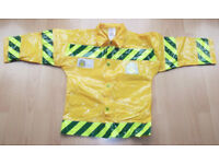 Yellow PVC Construction Builders Fancy Dress Jacket - Age 4-7 years