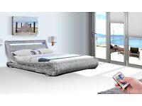 Rio Velvet LED Double or King Size Bed