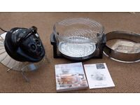 Multi-functional Halogen Oven (Black) with Extension ring and cookbook: Bella Casa brand
