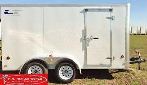 2017 Royal Cargo 6x12 LT   Tandem Axle   Barn Door   Cargo   Whi
