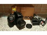 Nikon d800 with 28-80 lens and spare battery