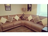 Stylish Corner Recliner Sofa (**DFS - 2 months old**) 6 seater - SILVER/GREY