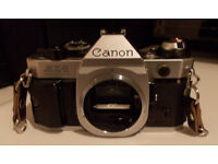 Canon AE-1 Program 35mm SLR Film Camera Body Only Spares or Repair Including Instructions