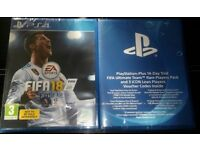 FIFA 18 (Sony PlayStation 4) and FIFA Ultimate Rare Team + 3 ICON Players SEALED