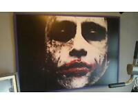 Rare Heath Ledger Joker movie picture huge framed collectors