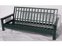 BRAND NEW, IN BOX. 3 seater futon frame. Double bed settee. Wood frame