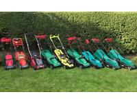 Job lot of fully working lawn mowers(2 cordless)