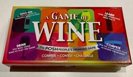 A Game of Wine - Brand new Board game table