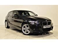 BMW 1 SERIES 2.0 116D M SPORT 5d 114 BHP + AIR CON + AUX CONNEC (black) 2013