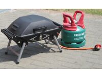 Portable Gas BBQ, full gas cylinder & regulator - £90 the lot
