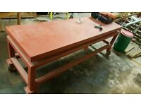 Vibrating table for concrete posts gravel boards etc