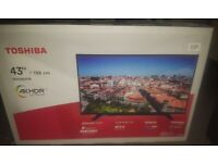 for PARTS or REPAIR! - Brand NEW, 43'' inch 108cm 4K TOSHIBA TV