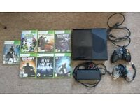 Xbox 360 Elite 250gb + 2 Controllers + 7 Games