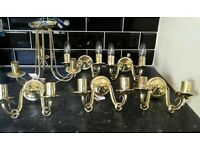 Lights Job Lot- Gold 5 wall and 1 ceiling lights Bargain