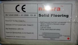 Wood Flooring - 3 x boxes of Natura 150mm European Solid Oak Satin Lacquered Wood Flooring