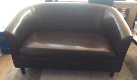 Two seater sofa / tub sofa / Brown