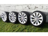 "18 inch / 18"" alloy wheels with tyres, 5x112, 225/40R18 (92). VW, Seat, Audi, Skoda."