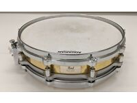"""Pearl 14"""" x 3.5"""" Free Floating Brass Piccolo Snare Drum - Used"""