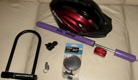 Bicycle Safety Helmet, Pump Lock & other accessories