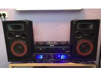 CD Mixing setup/ As New Hardly used/ new Amplifier 500watt large new speakers etc buyer mus collect