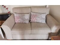 2 Seater Sofa x 2. Beige.From Next.In excellent condition with Fire Safety Labels. £200 for both.