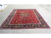 MASSIVE ROOM SIZE CLASSIC CENTRAL HAND WOVEN PERSIAN MASHAD RUG SIGNED 350x250cm, EAST PERSIA