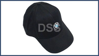 Genuine BMW Hat Cap Roundel Logo Black Adjustable OE 80162208705