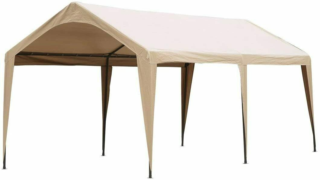 Abba Patio 10 x 20 ft Outdoor Carport Car Canopy Portable Ga