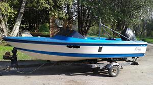15' Lund S/L 1500 Stinger Ski Boat
