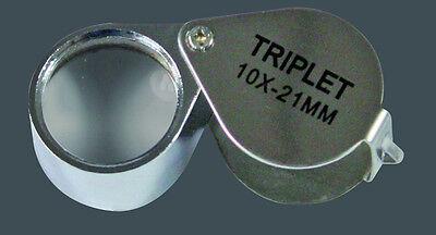 Lupe Einschlaglupe Lindner, 10-fach Vergrößerung, 21 mm Durchmesser (2092)