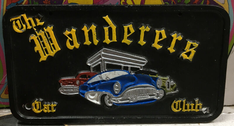 The Wanderers Car Club Plaque