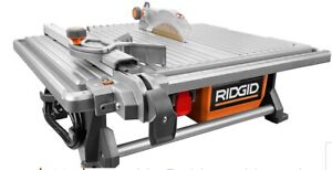 Ridgid Portable Tile Saw with Stand and Two Blades
