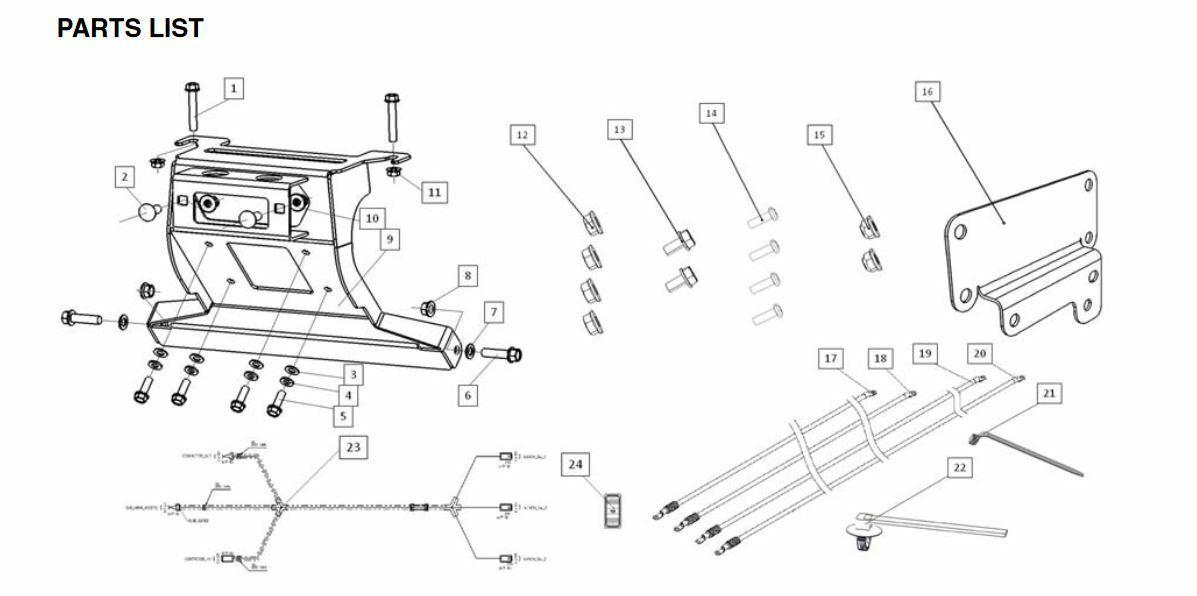 2015-2019 Genuine Honda Pioneer 500 Winch Mount Kit 08L75