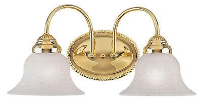 - Livex 2 L Polished Brass Edgemont Bathroom Vanity Lighting Wall Fixture 1532-02
