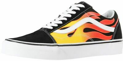 Vans Old Skool Black Flames Unisex Suede Skate Trainers