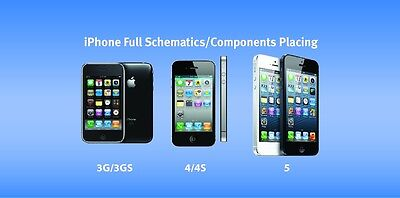 iPhone 3G, 3GS, 4, 4S, 5 Full Schematics Component Placing Diagram Layout
