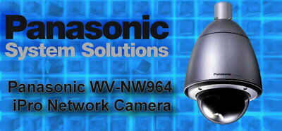 New Panasonic Wv-nw964 30x Autotracking Outdoor Ip-ptz Camera 4140