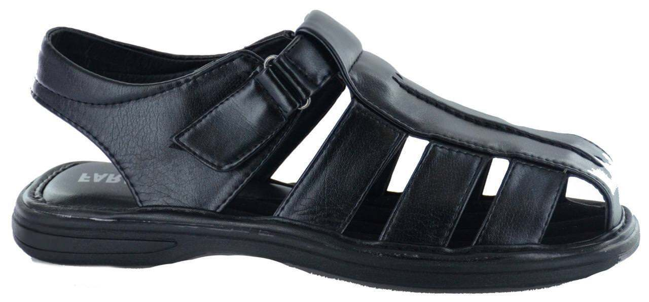 New Faranzi Men's Casual Summer Fisherman Black Sandals 81670